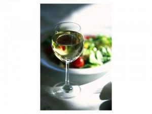 Copa de vino blanco alvariño