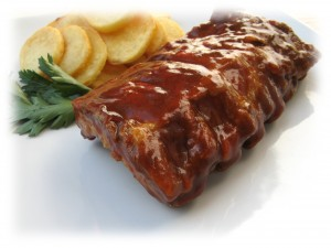 Plato de Costillas Barbacoa