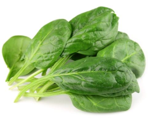 Espinacas como fuente de vitaminas