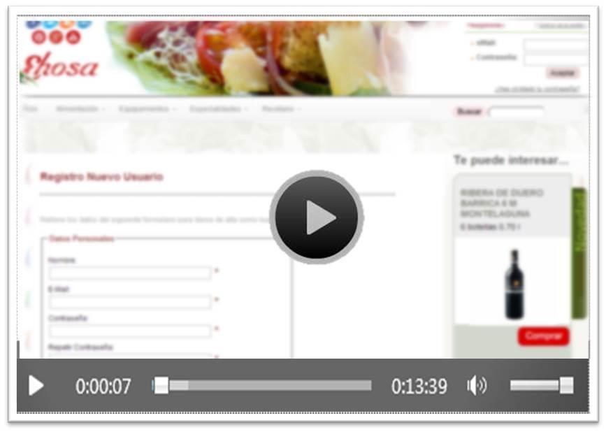Video Registro on line Ehosa