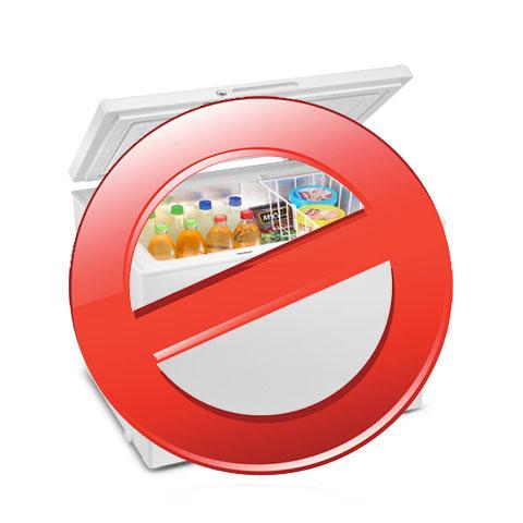 Alimentos prohibidos en el congelador