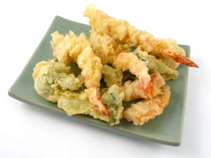 rebozado de marisco y verduras