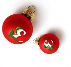 foto con bolas de navidad