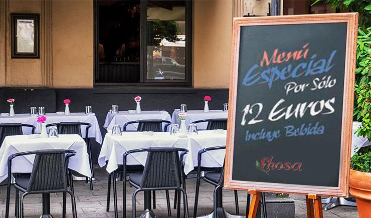 publicidad en restaurantes