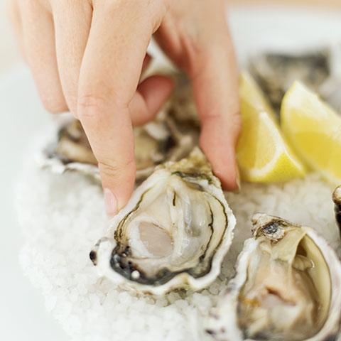 ostras en los restaurantes
