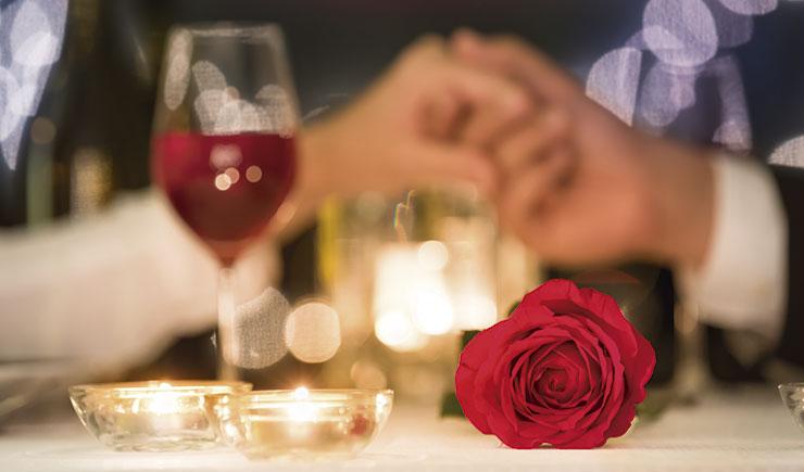 San Valentin en un restaurante