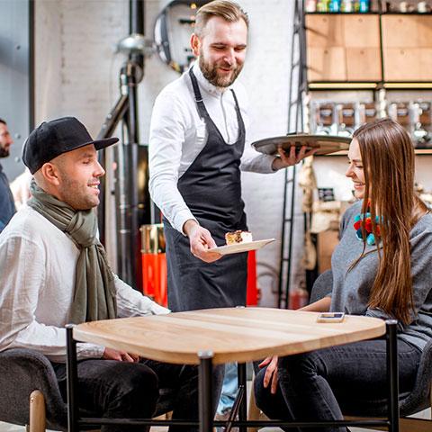 servicio de mesas en hostelería