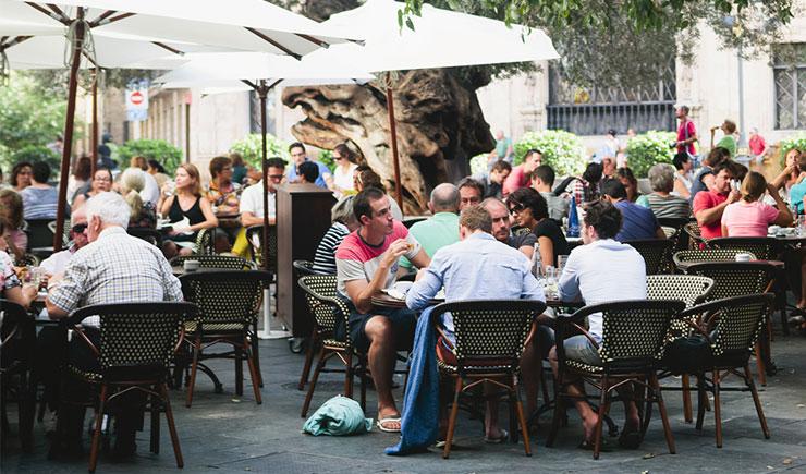 Terrazas en bares y restaurantes